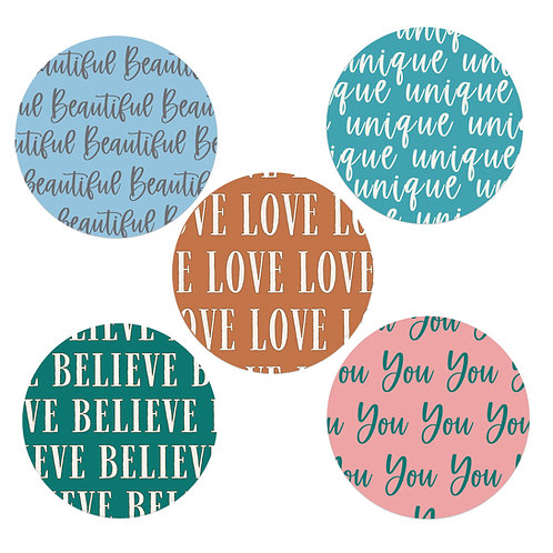 Beautifully You 2-inch Word Circles