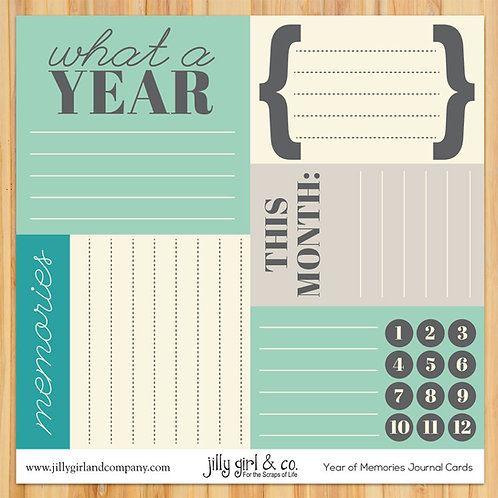 A Year of Memories Journal Cards