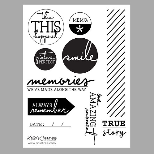 Memories 6x8 Stamp Set