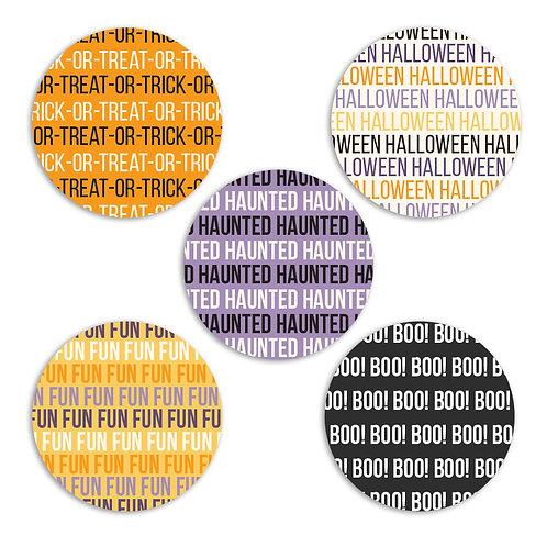 ABC's of Halloween- 2-inch Word Circles