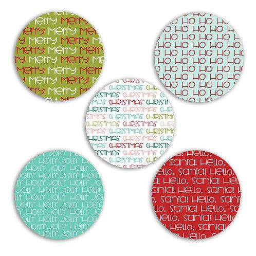 Hello Santa 2-inch Circles