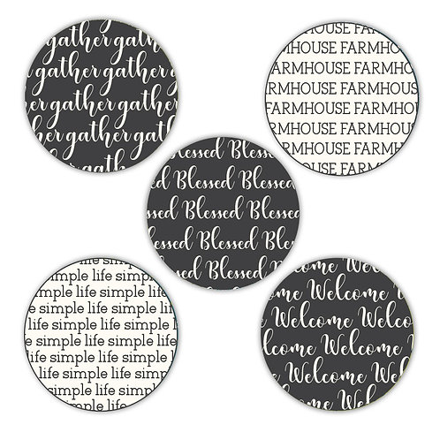 Farmhouse 2-inch Circles