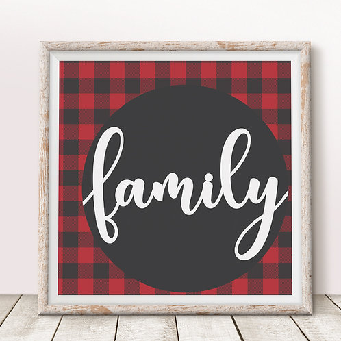 Family (Red) Print