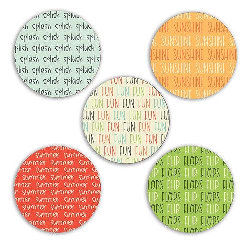 Summer Fun 2-inch Circles