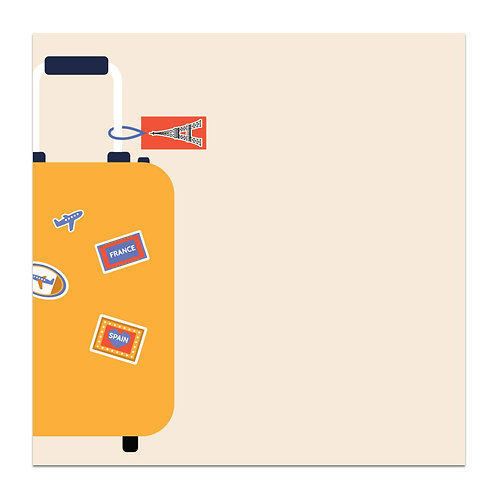 Suitcase- 5x5 Simple Note