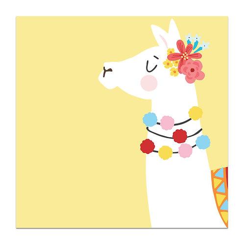Llama - 5x5 Simple Note