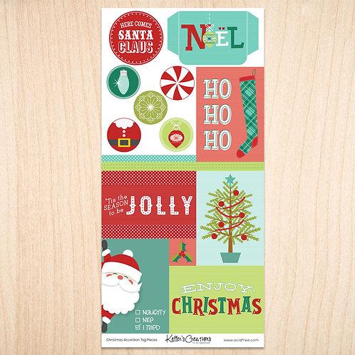 Christmas Accordion Tag Pieces