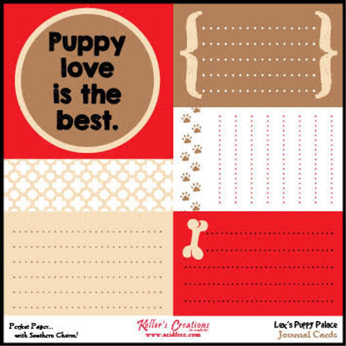 Lex's Puppy Palace Journal Cards