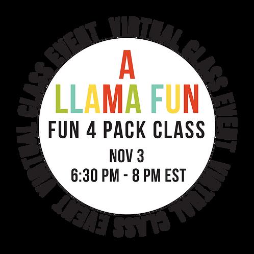 A Llama Fun Fun 4 Pack Class Box