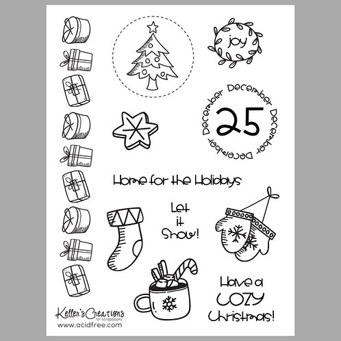 Cozy Christmas 6x8 Stamp Set