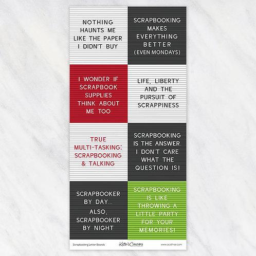 Scrapbooking Letterboards