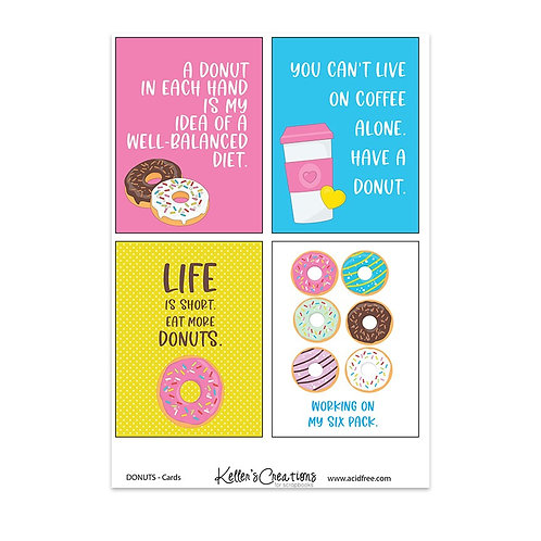 "Donuts-3x4"" Cards"