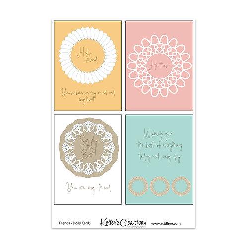 """Friends Doily-3x4"""" Cards"""