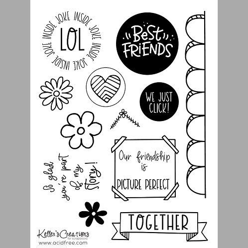 Best Friends 6x8 Stamp Set