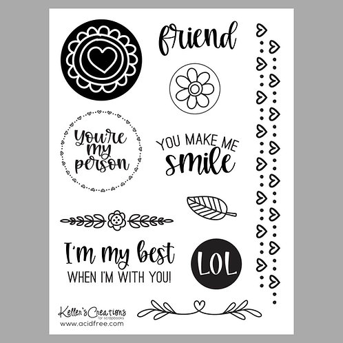 You're My Person 6x8 Stamp Set