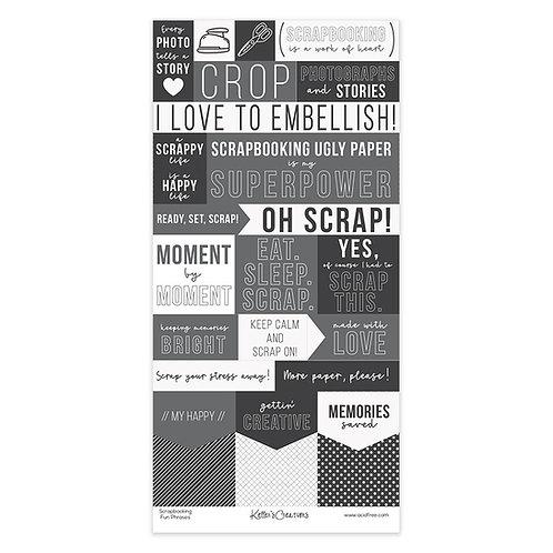 Scrapbooking Fun Phrases