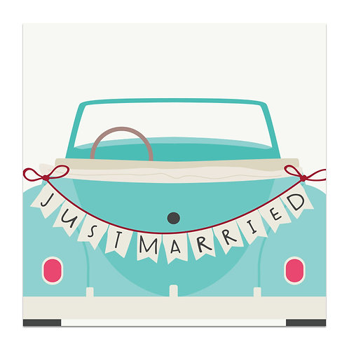 Just Married - 5x5 Simple Note