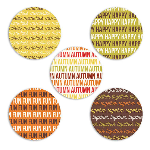 ABC's of Autumn 2-inch Word Circles