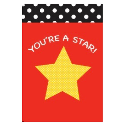 You're a Star Flash Card -4x6