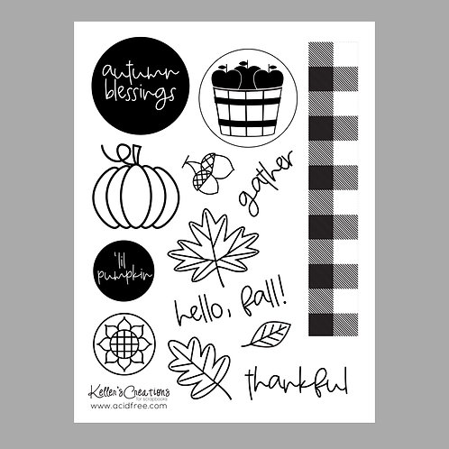 Hello, Fall 6x8 Stamp Set