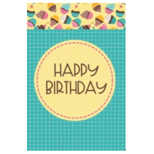 Happy Birthday Flash Card -4x6