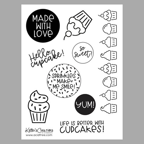 Hello, Cupcake 6x8 Stamp Set