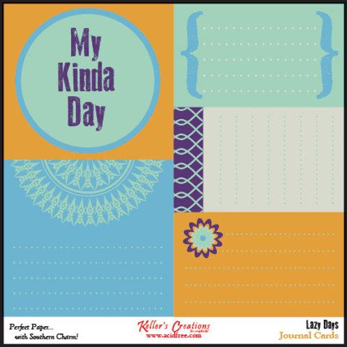 Lazy Days Journal Cards