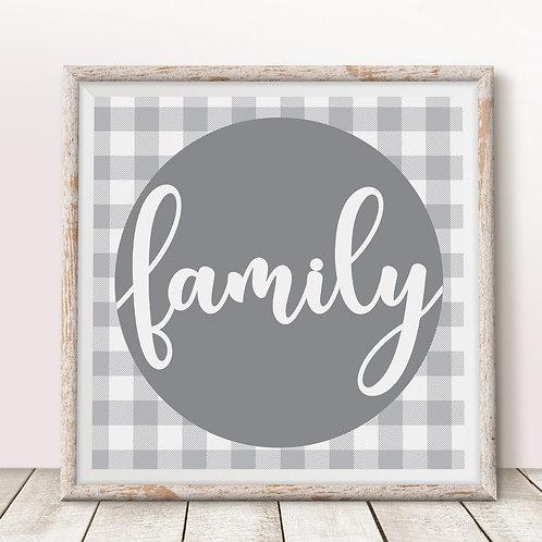 Family (Gray) Print