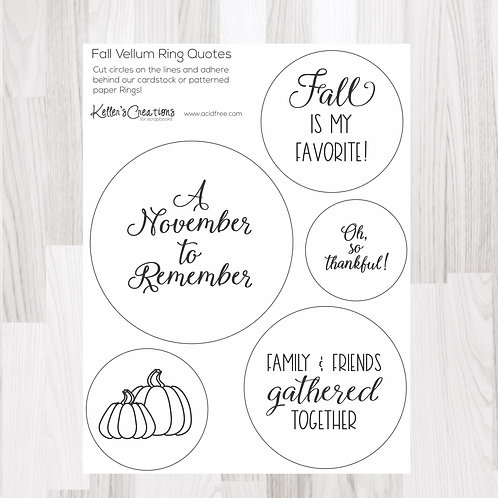 Fall Ring Quotes