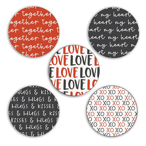 My Heart 2-inch Circles