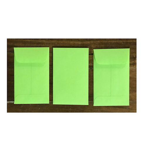 Mini Envelopes -Lime