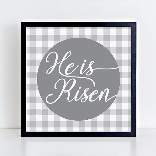 He Is Risen (Gray) Print