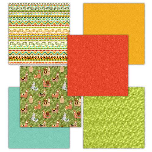 A Llama Fun 6 x 6 Fun Sheets
