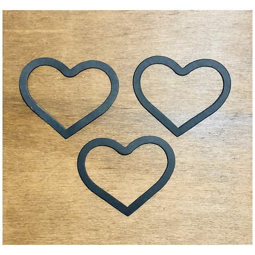 Black Heart Frame Die Cuts