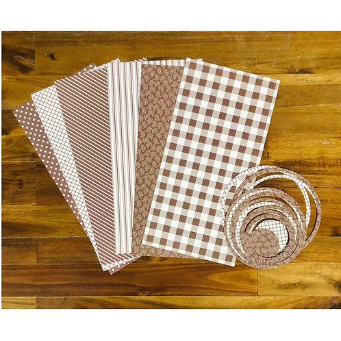 Brown- White Paper & Ring Pack