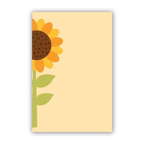 Sunflower - 4x6 Simple Note