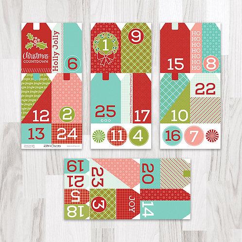 Christmas (Hello Santa) Countdown Tags