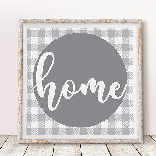 Home (Gray) Print
