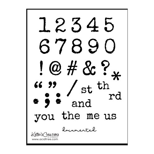 Numbers 4x6 Stamp Set