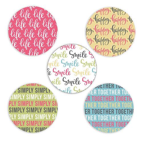 Simply Happy 2-inch Circles