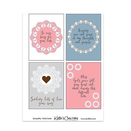 """Sympathy Doily-3x4"""" Cards"""