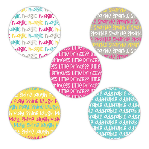 Little Princess 2-inch Circles