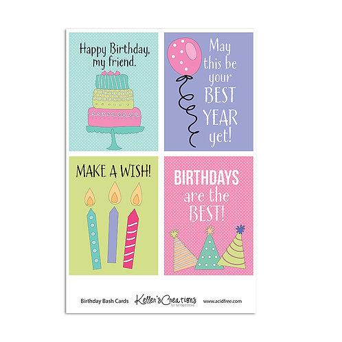 """Birthday Bash  -3x4"""" Cards"""