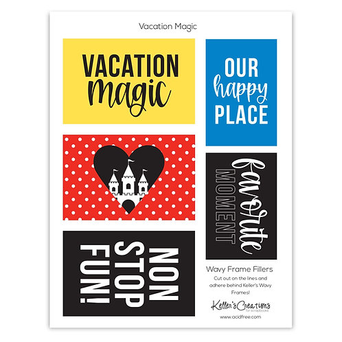 Vacation Magic -Wavy Frame Fillers