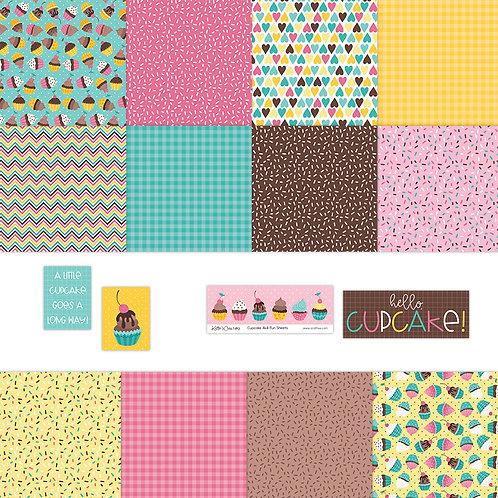 Cupcake 4x4 Fun Sheets