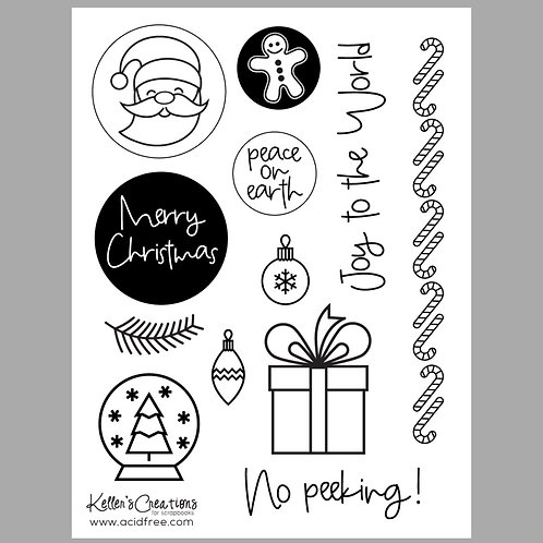 Merry Christmas 6x8 Stamp Set