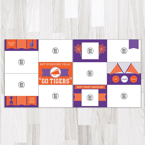 Go Tigers (purple & orange) Perfect Pages