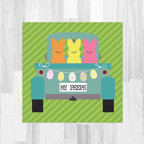 Easter Truck (My Peeps) Truck Print