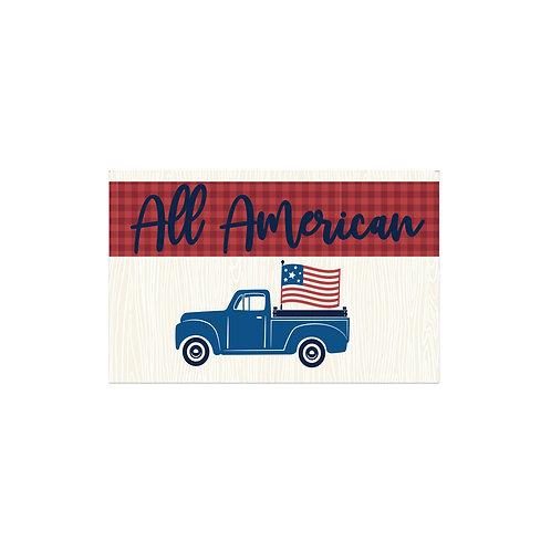All American Truck Flash Card -4x6