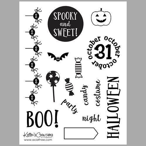 Spooky & Sweet 6x8 Stamp Set
